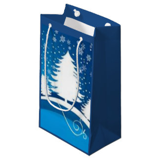 Blue Winter Small Gift Bag