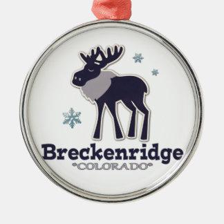 Blue winter snowflake Breck Colorado ornament