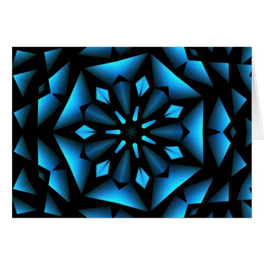 blue winter snowflake christmas card