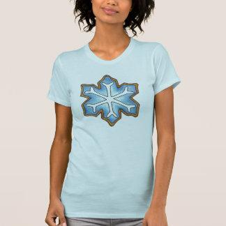 Blue Winter Snowflake Christmas Hanukkah Cookie T T-Shirt