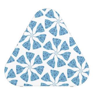 Blue Winter Snowflake Pattern Pinwheel