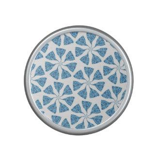 Blue Winter Snowflake Pattern Pinwheel Speaker