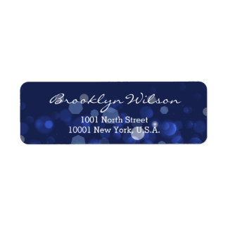 Blue Winter Themed Personalized Address Labels