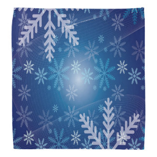 Blue winter with snowflakes bandana