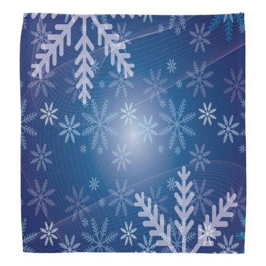 Blue winter with snowflakes bandana