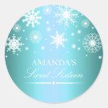 Blue Winter Wonderland Sweet 16 Sticker