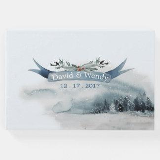 Blue Winter Wonderland Wedding Guest Book