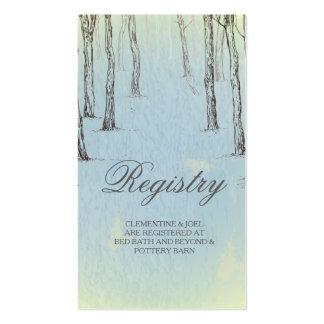 Blue Winter Woods Wedding Registry CardGolden L Pack Of Standard Business Cards