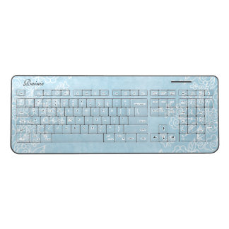 Blue Wireless Keyboard