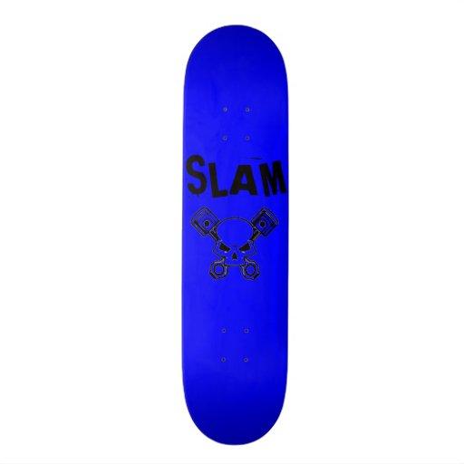Blue with Black Slam Skateboard Deck