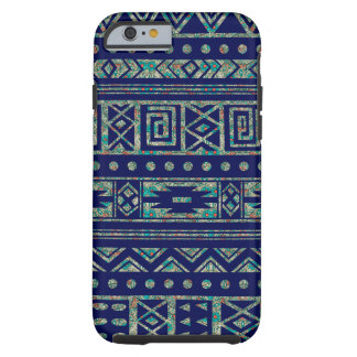 Blue With Colorful Tribal Ikat Pattern Tough iPhone 6 Case