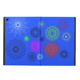 blue with different pattern cover for iPad air