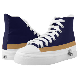 Blue with Gold and White Trim Hi-Top