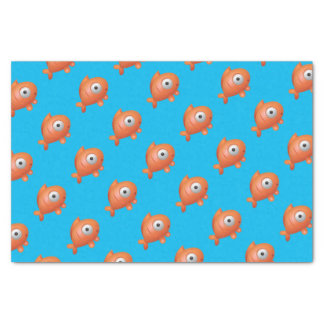 Blue with Orange Fish Under the Sea Birthday Tissue Paper