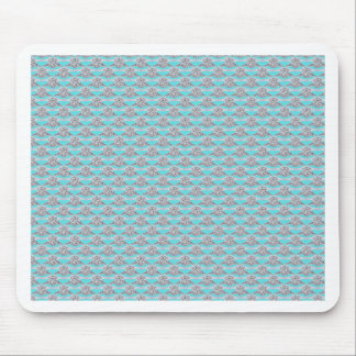 Blue With Platinum Diamond Ring Mouse Pads
