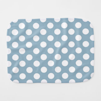 Blue with White Polka Dots Burp Cloth