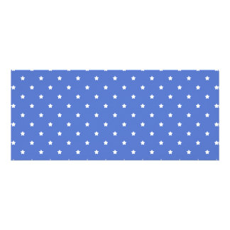 Blue with white stars Pattern Personalized Announcements