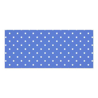 Blue with white stars. Pattern. Personalized Announcements