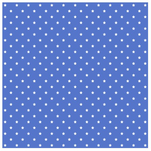 Blue with white stars. Pattern. Cut Outs