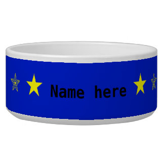 Blue with yellow stars add name pet
