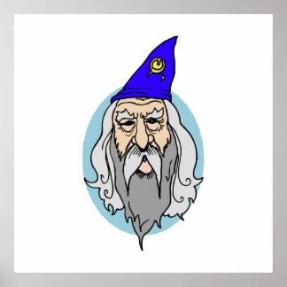 Blue Wizard Print