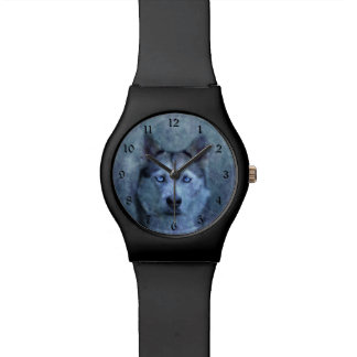 Blue wolf husky watch