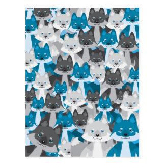 Blue Wolfie Postcard