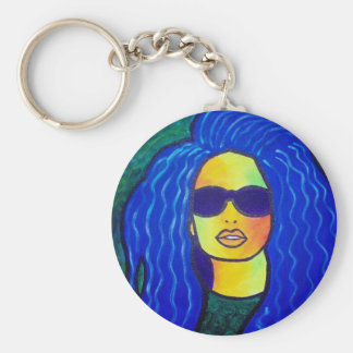 Blue Woman Sunglasses by Piliero Key Chain
