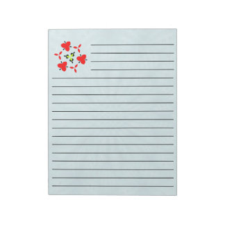 Blue wood abstract pattern notepad