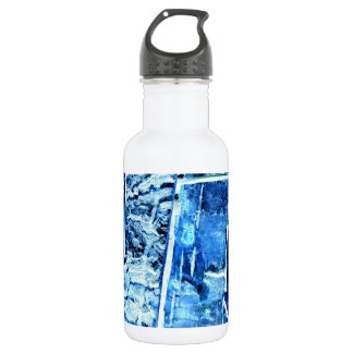 Blue Wood Pattern Water Bottle 532 Ml Water Bottle