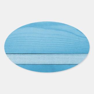 Blue wood sticker