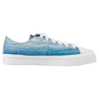 Blue Wood Zipz LowTop Shoes, Men  / Women Low Tops