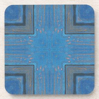 blue wooden background coaster