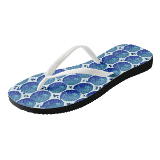Blue World Flip Flops