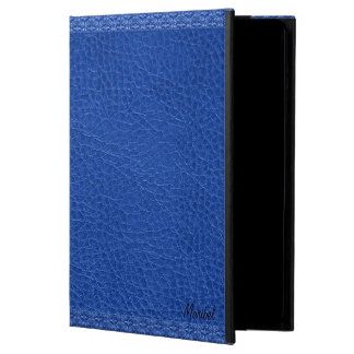 Blue Worn-Out Natural Fox Leather Look 2 Cover For iPad Air