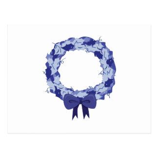 Blue Wreath Post Card