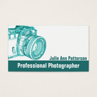 Blue X-Ray Camera Photographer Business Cards
