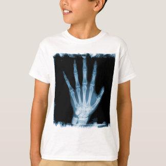 Blue X-ray Skeleton Hand Shirt