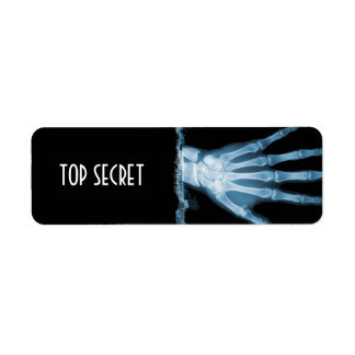 Blue X-ray Skeleton TOP SECRET Labels
