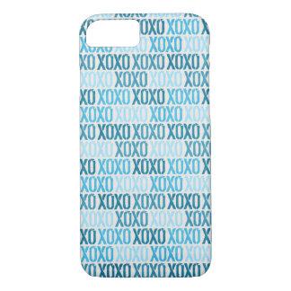 Blue XOXO Skin iPhone 7 Case