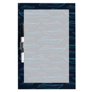 Blue Yacht Pattern Dry Erase Board