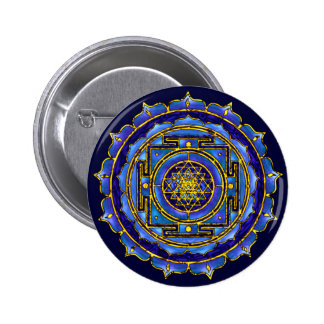 Blue Yantra Button