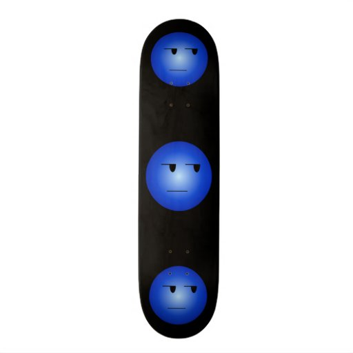 Blue Yeah Right Smiley Skate Deck