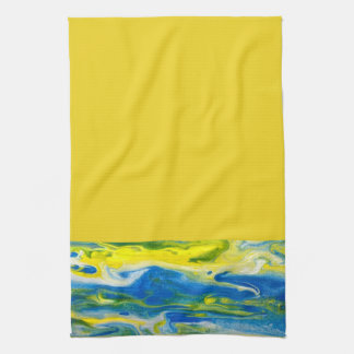 Blue & Yellow Abstract Kitchen Towel