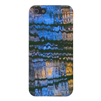 Blue & Yellow Abstract Reflections Perned iPhone 5 Cover