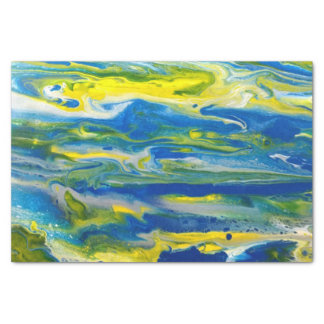 Blue & Yellow Abstract Tissue Paper