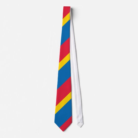 Blue Yellow and Red Striped Tie