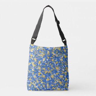 Blue, Yellow and White Paint Splashes 8200 Crossbody Bag
