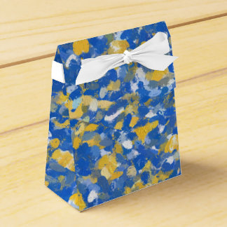 Blue, Yellow and White Paint Splashes 8200 Party Favour Box