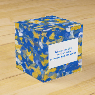 Blue, Yellow and White Paint Splashes 8200 Party Favour Boxes